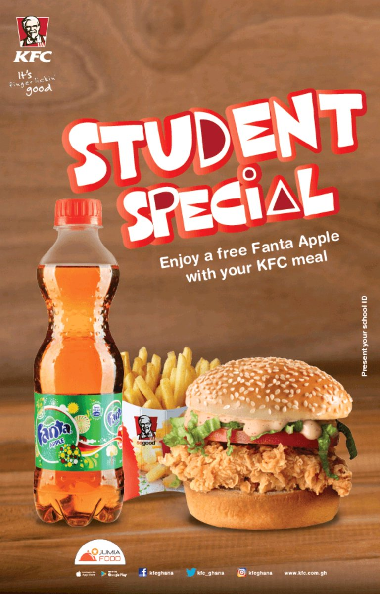 Kfc Ghana On Twitter Introducing An Exclusive Deal For Students