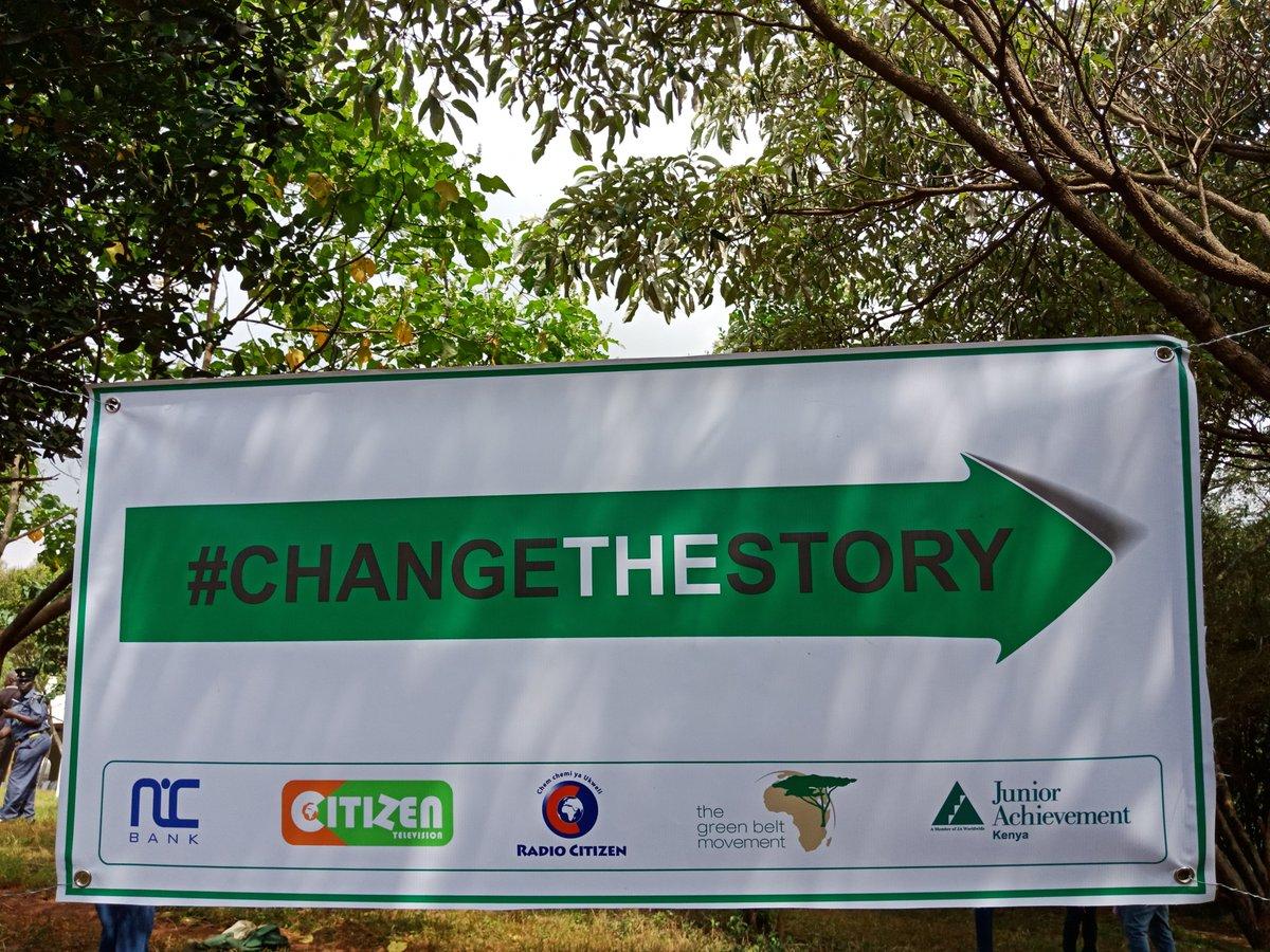 This way to #CHANGETHESTORY with @nicbankkenya @GreenBeltMovmnt @NairobiCityGov
