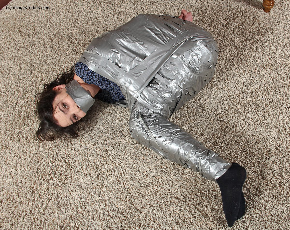 Duct Tape Mummy Bondage
