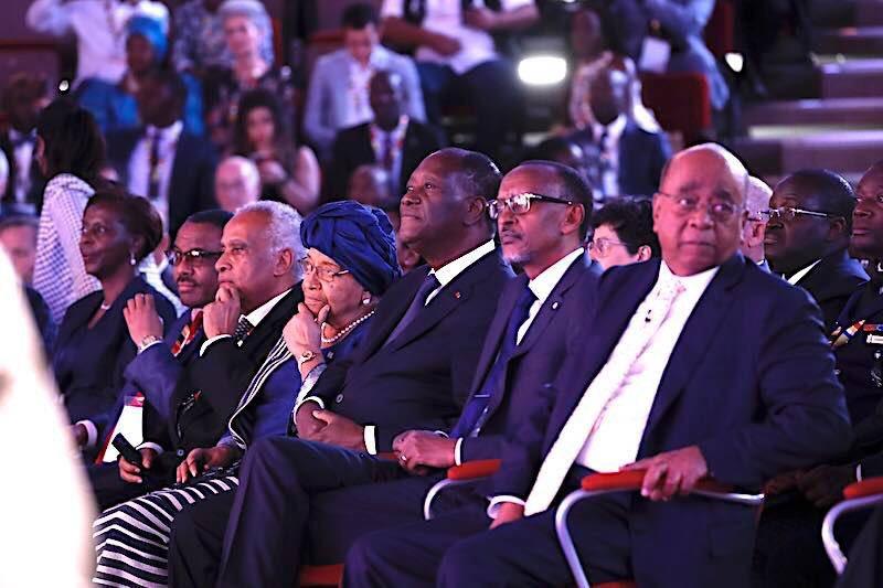 Le Président @adosolutions , a pris part, en qualité d'Invité d'honneur, ce vendredi 27 avril 2018, à Kigali, à la cérémonie de remise du '' Prix Mo Ibrahim pour le leadership d'excellence en Afrique '', décerné cette année à l'ex-Présidente du Liberia, Ellen JOHNSON-SIRLEAF