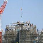 熊本城に鯱が無事に設置される!感謝の気持ちを文字で表現してる!