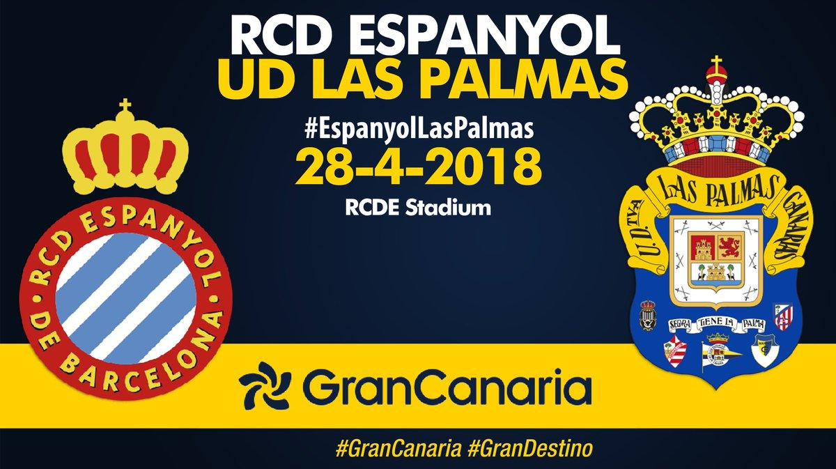 ¡Día de partido! 12.00h.c, #EspanyolLasPalmas en el RCDE Stadium. #VamosUD