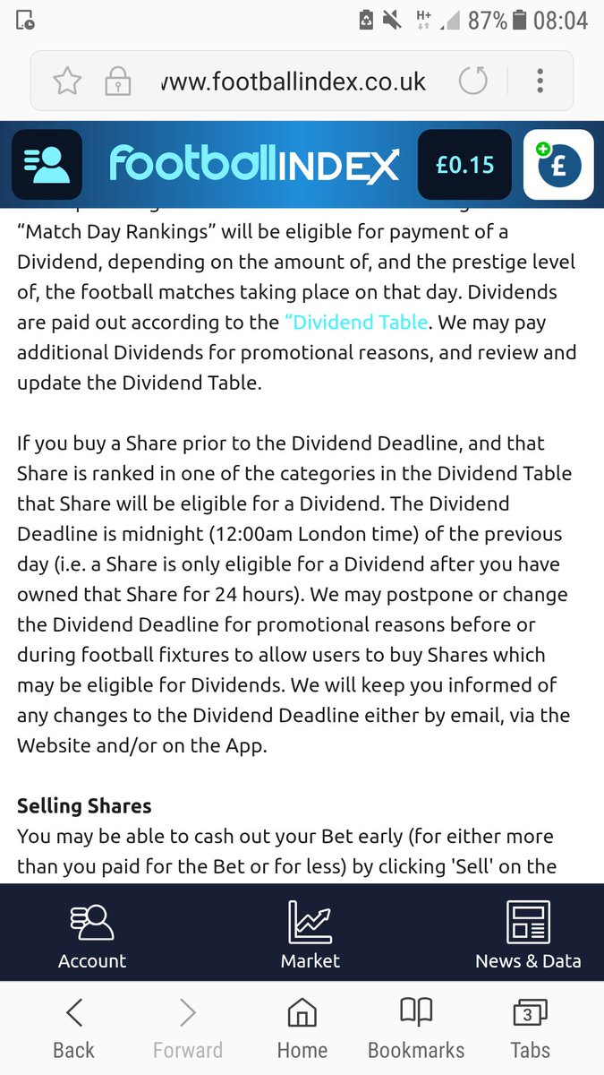 #footballindex have changed dividend times to 12am, ridiculous change people wanted it later not way earlier! @FootballIndexUK