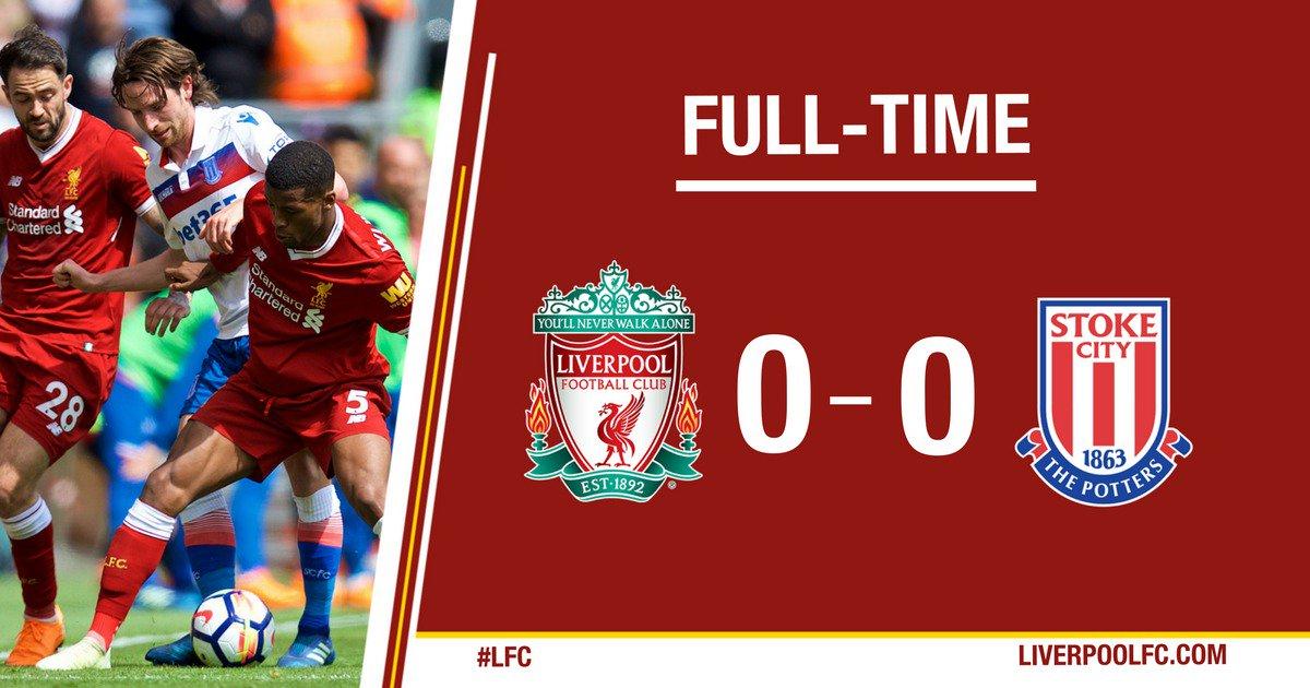 Chấm điểm kết quả Liverpool 0-0 Stoke City