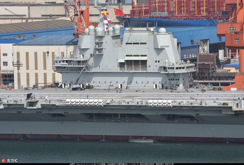 2-й китайский авианосец начал ходовые испытания