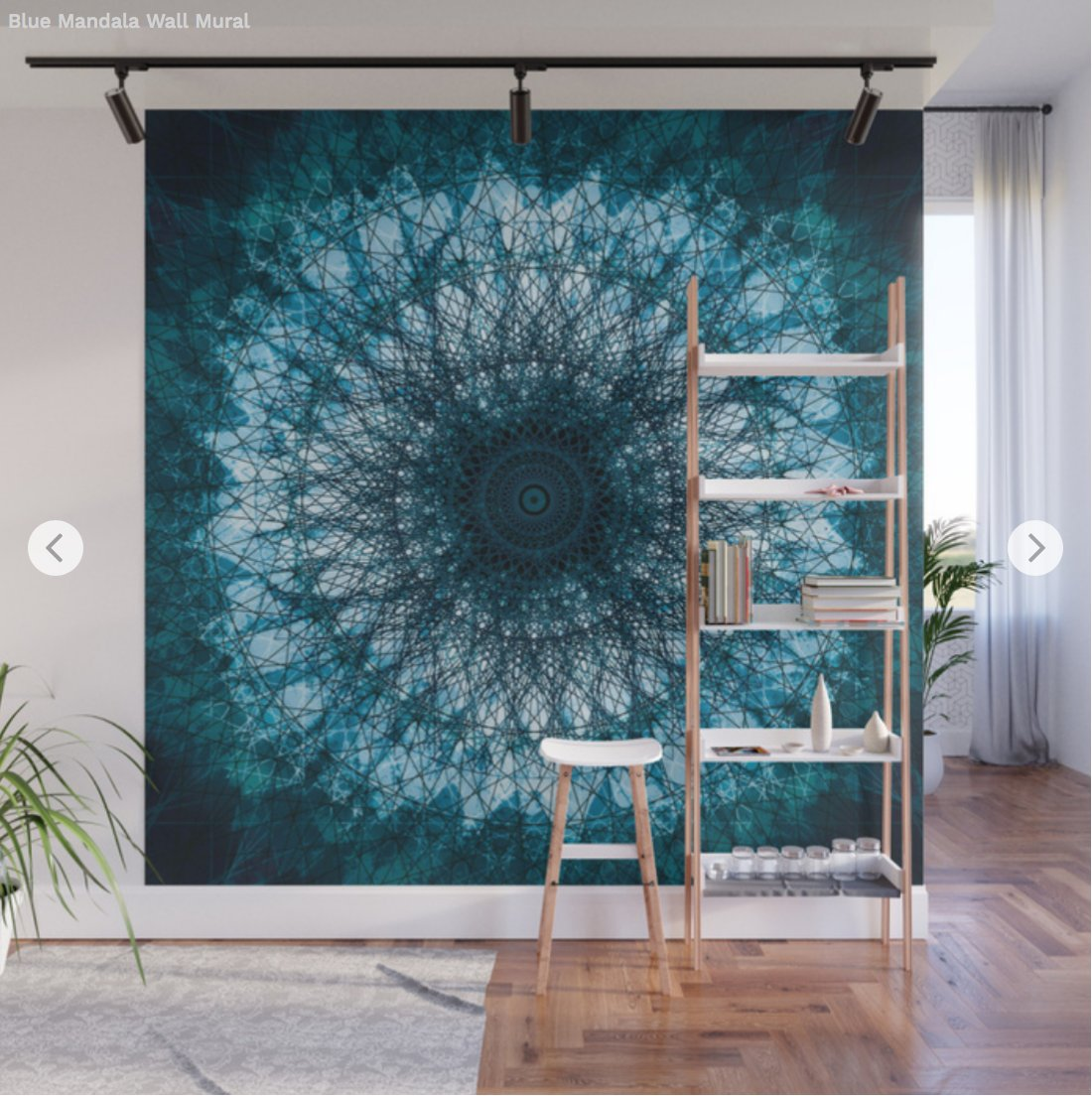 Get The Beautiful Blue Mandala Wall Mural At My Shop Society6 Product Mandala809131 Muralskus6 7771454p68a215v760