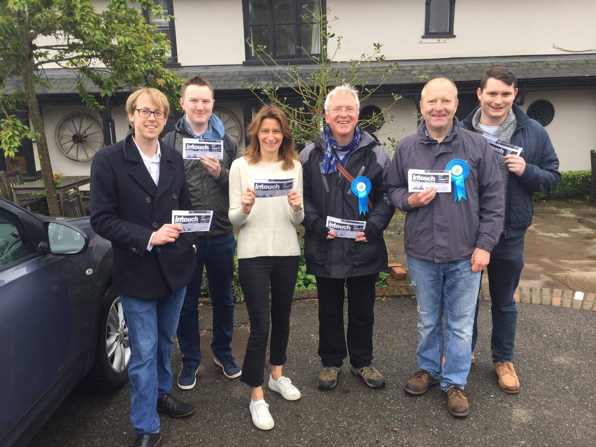Great to be out in Balsham this morning with our excellent candidate Richard Turner