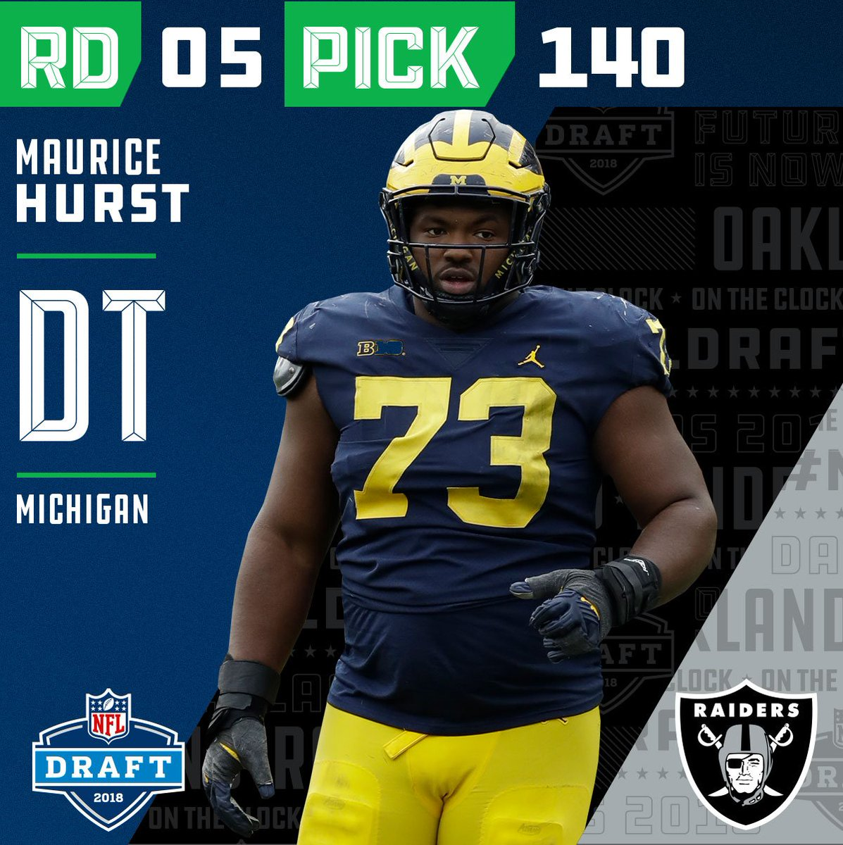 0367d59aa with the 140 overall pick the raiders select dt maurice hurst mohurstjr  nfldraft