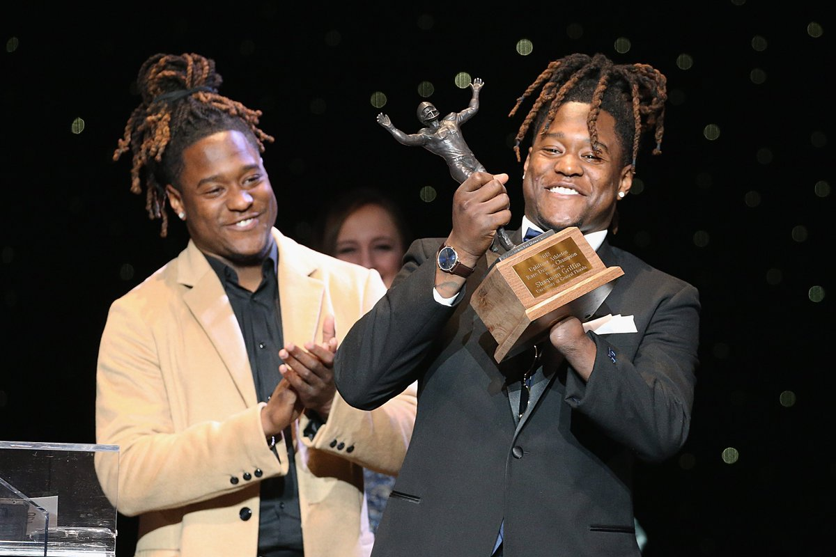 Beautiful story.   Brothers Shaquem & Shaquill Griffin reunite together in Seattle.   #NFLDraft