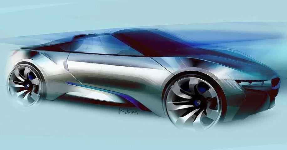 Form Trends On Twitter Bmw I8 Spyder Concept Sketch By Former