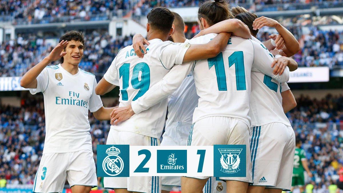Chấm điểm kết quả Real Madrid 2-1 Leganes
