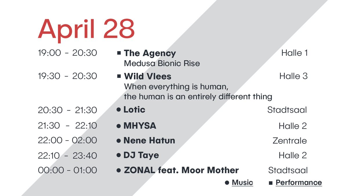 ►► LINE UP CHANGE ◄◄ Due to a delayed flight ZONAL ft. Moor Mother can't play at 20:30h thus the running order has changed. See below: #df #donaufestival2018 https://t.co/tI45alZ4JY