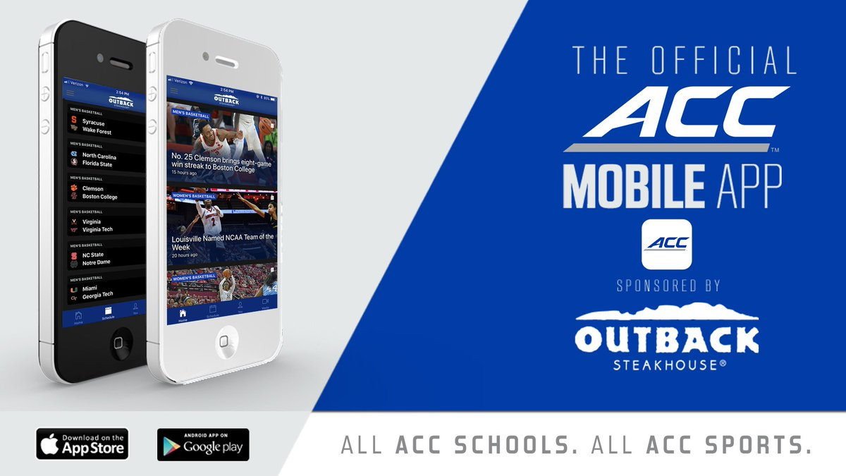 "The ACC on Twitter: ""Everything ACC is available at your fingertips with  the #ACC Mobile app presented by @Outback!"