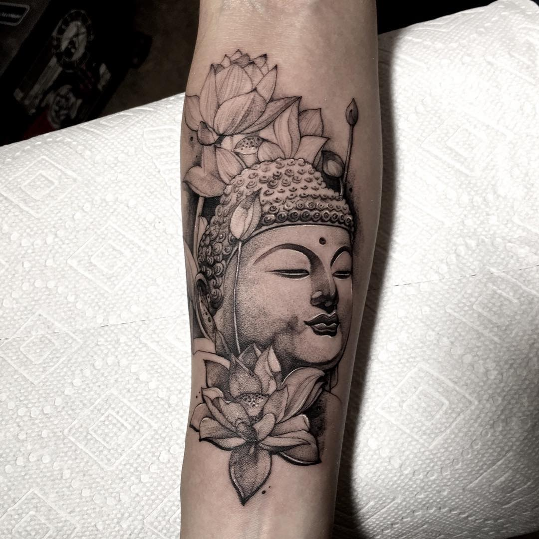 Killer Ink Tattoo On Twitter Buddha And Lotusflowers By Alvin