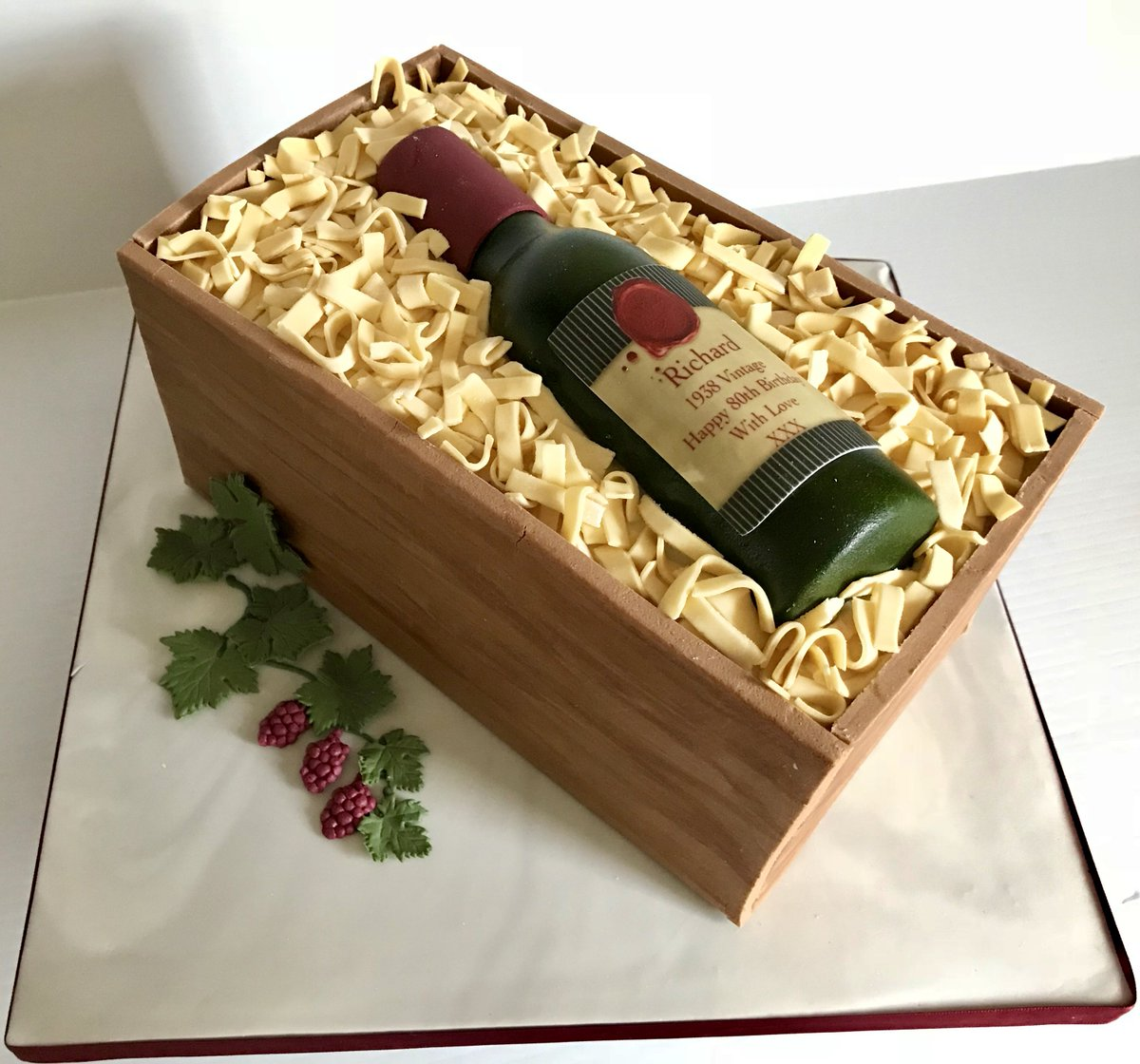 Sharon Lord Cakes On Twitter A Couple Of Birthday This Week Sugar Wine Bottle And Figure