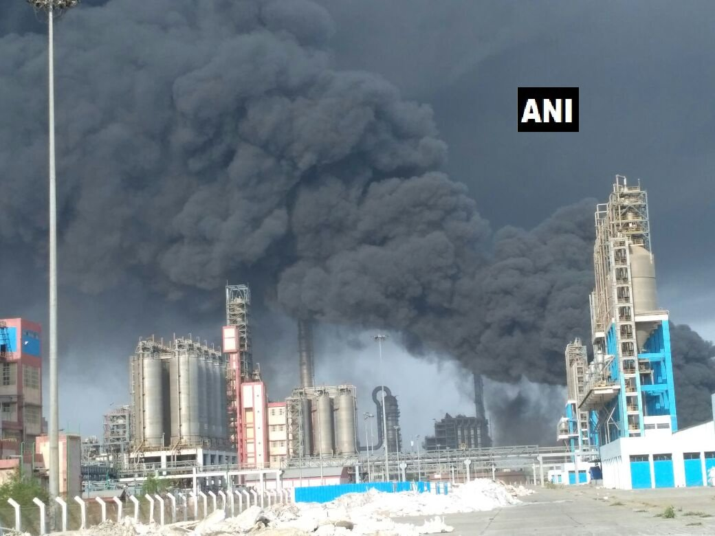 Fire in ONGC Petro Additions Ltd (OPaL) petrochemical complex in Dahej SEZ in Gujarat