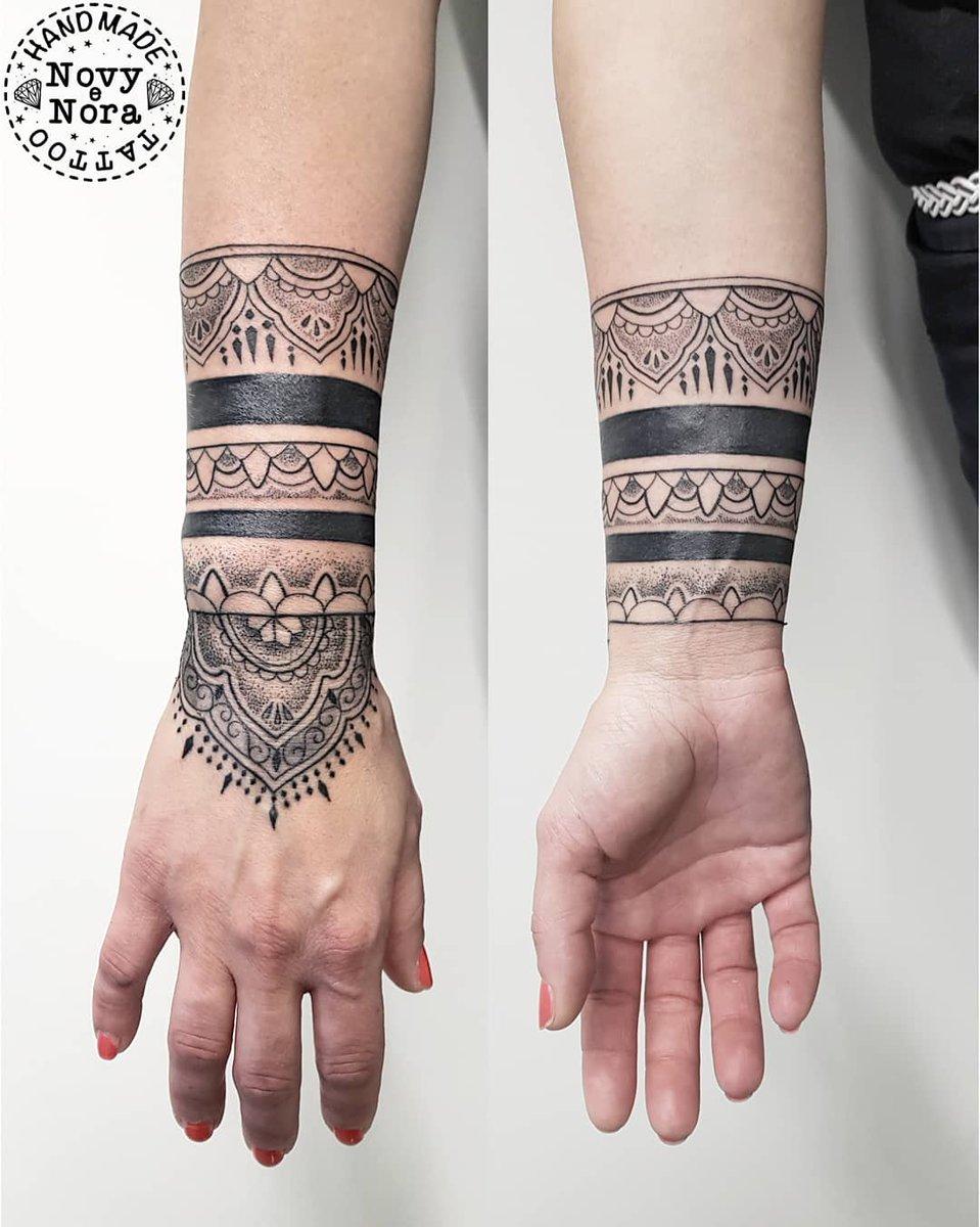 3e37017c0 Bracelet Mandala Tattoo #bracelets #blackband #bracelettattoo #mandala  #mandalatattoo #handmandala #