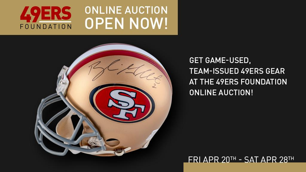49ers community 49erscommunity twitter going once going twice get your bids in during the final hours of the 49ers foundation online auction and all this could be yours voltagebd Gallery