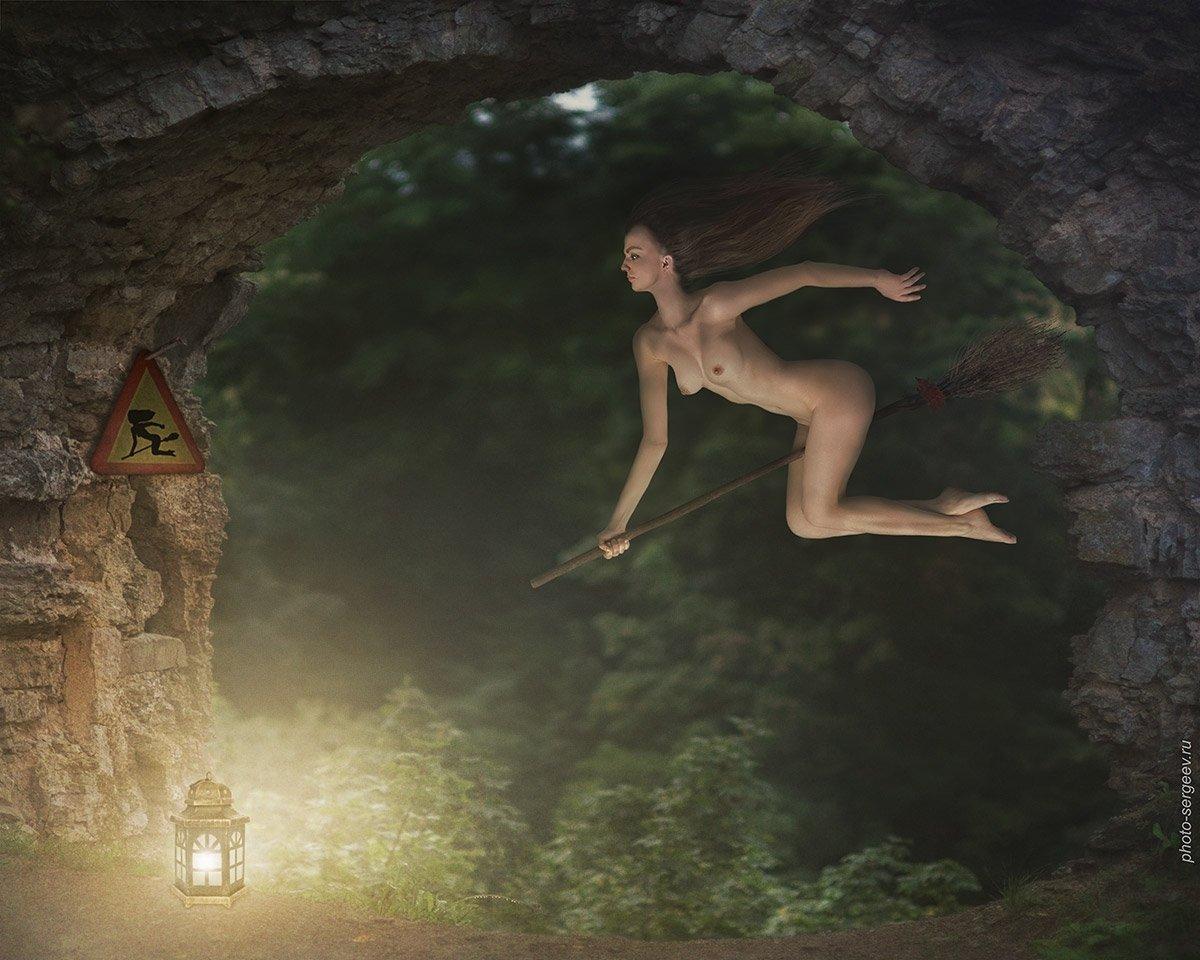 эротика ведьма на метле семья