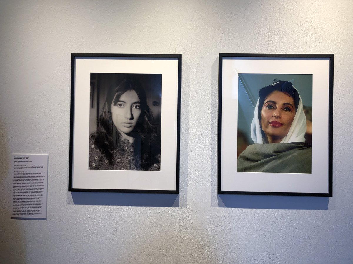 A moment of pride passing by Benazir Bhutto's photos in my college @lmhoxford. First female Prime Minister in the Muslim world and Pakistan.