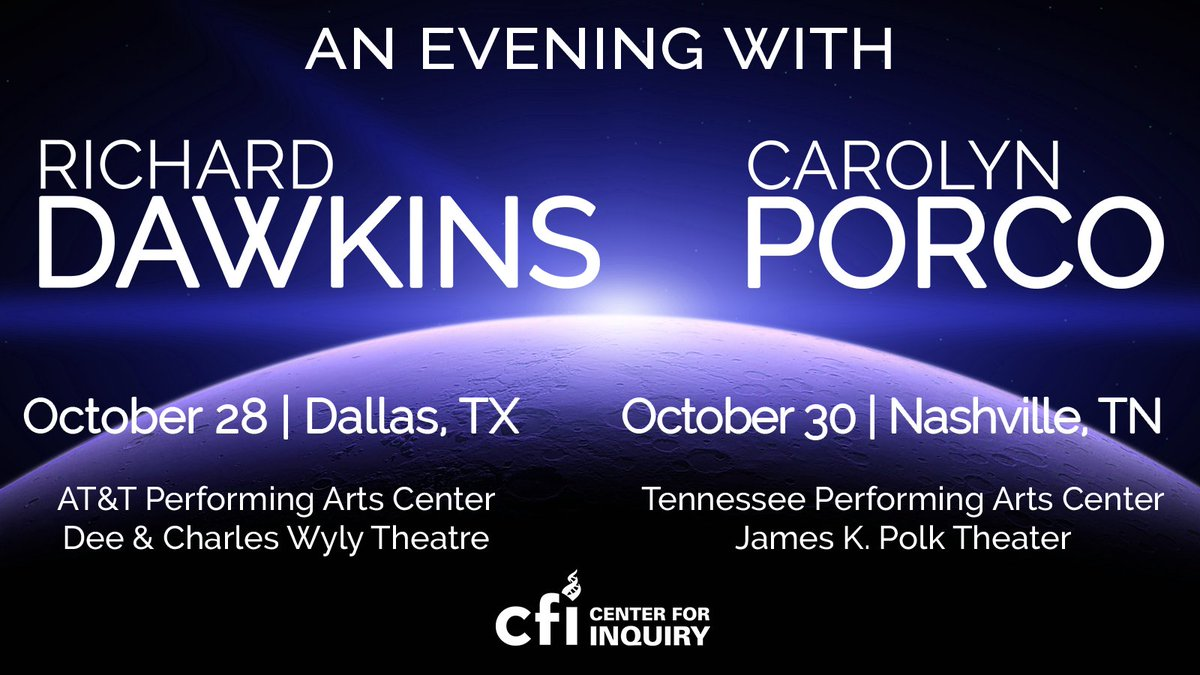 Richard dawkins foundation on twitter vip tickets include a meet greet with both of them tickets are limited and going fast so dont wait m4hsunfo