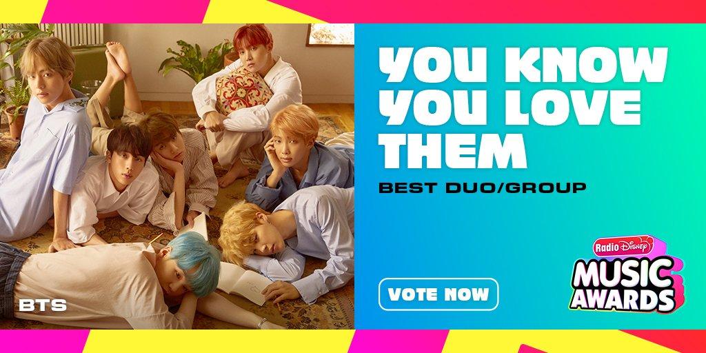 RT to vote for #BTS for #YouKnowYouLoveThem! @radiodisney #RDMA @bts_bighit @BTS_twt