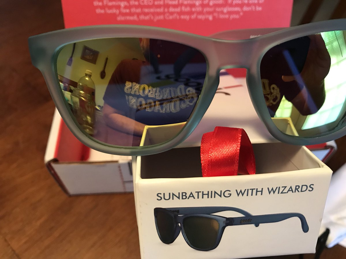 """41da003f42 When searching for new  goodr sunglasses I saw the name """"Sunbathing With  Wizards"""" and had to have them. They also passed the test of 13.1 miles of  sweat ..."""