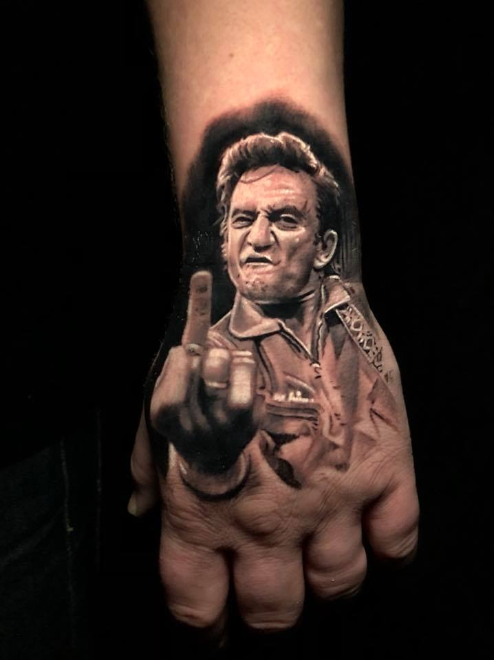 Pony Lawson On Twitter Johnny Cash Tattoo Tattoos Handtattoo