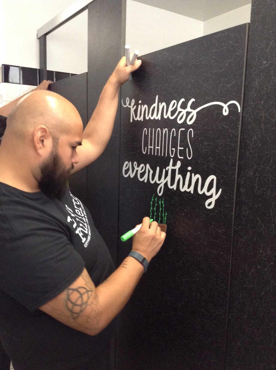 valencia park school on twitter our amazing volunteers transformed our student bathrooms into inspiring and motivational spaces during our city wide serve