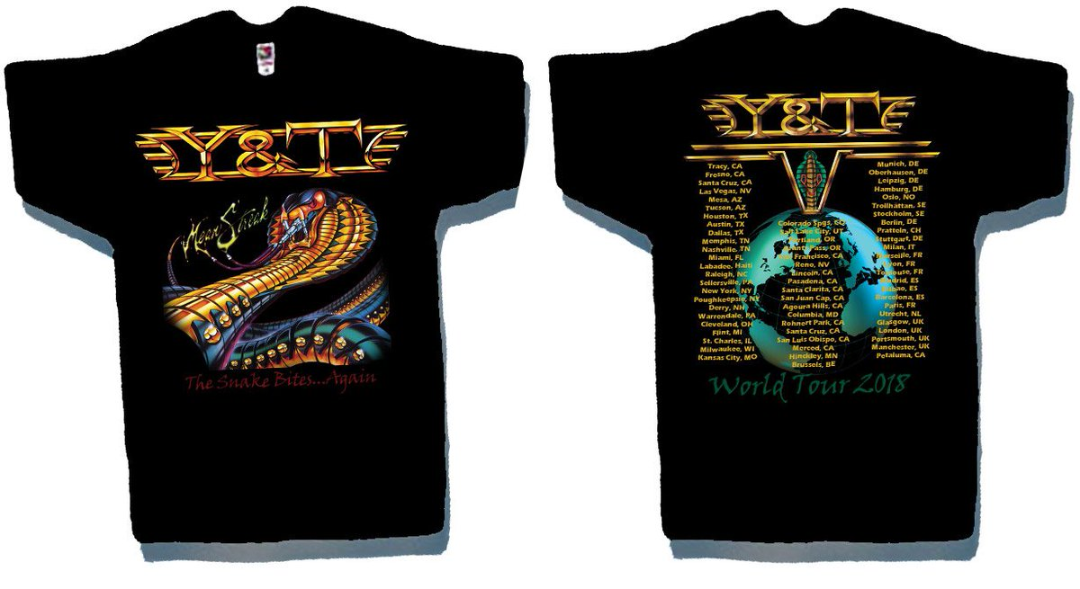bf6821eba39 Back of shirt is updated w/new world graphic + 2018 tour dates including  Saxon/Y&T Europe & UK shows. http://store.meniketti.com/ProductDetails.asp?