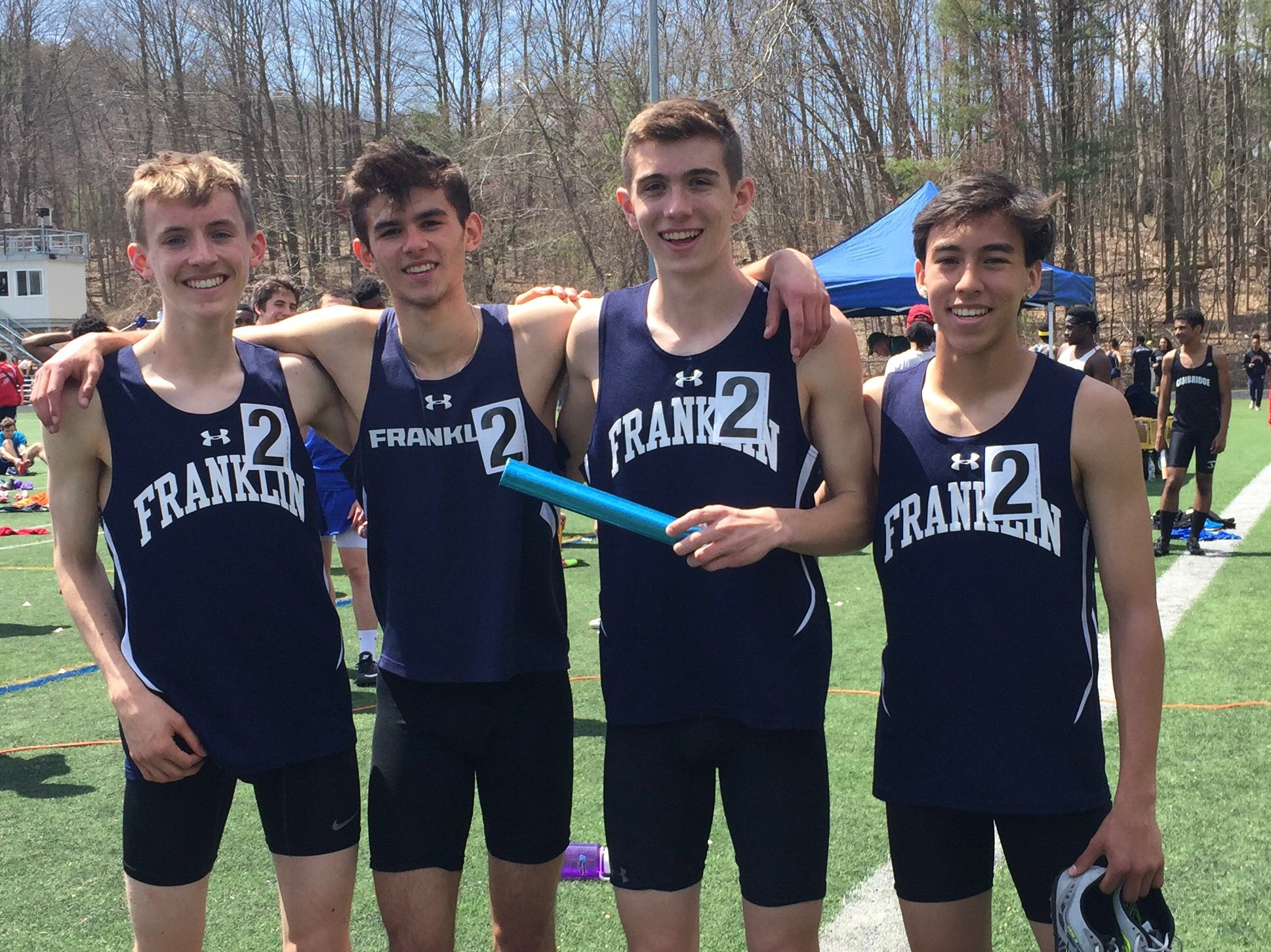 Boys 4x800 takes first at the MSCTA state relays! All four ran a PR with a 8:08 total time