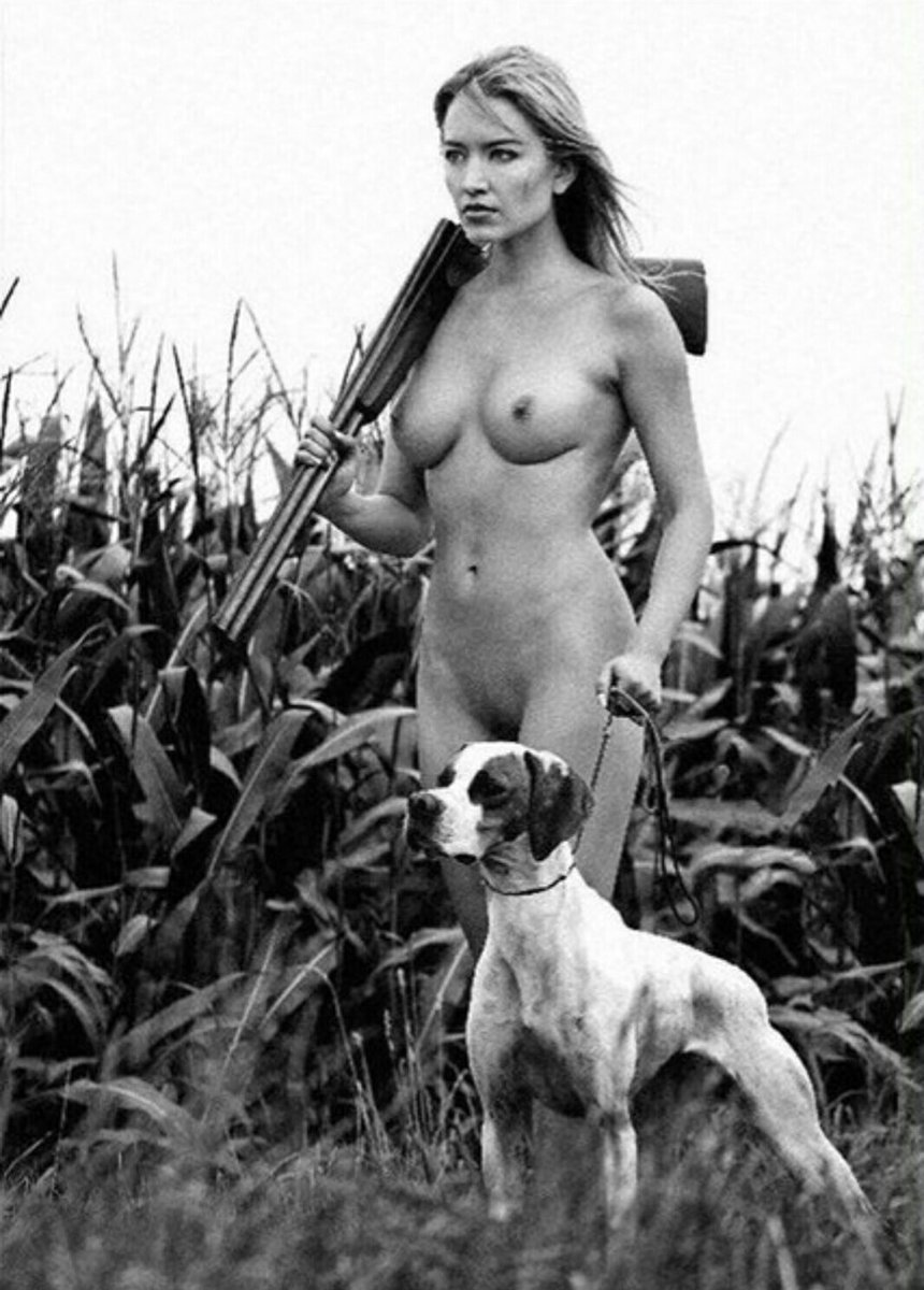 Woman takes sexy hunting photos with dead animals