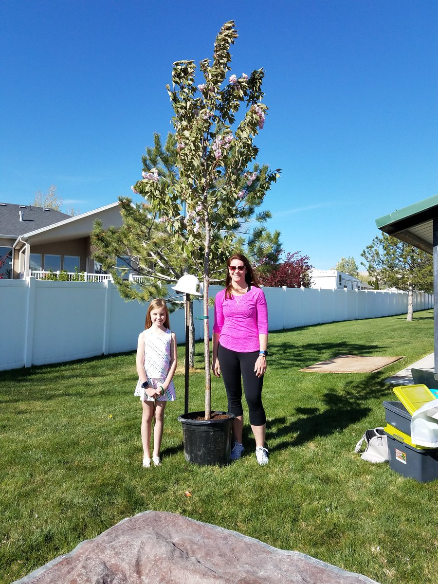 Congratulations To Brandy And Brooklyn Thompson For Winning The Tree Giveaway At Our Arbor Day Planting Work Today Thanks Nursery