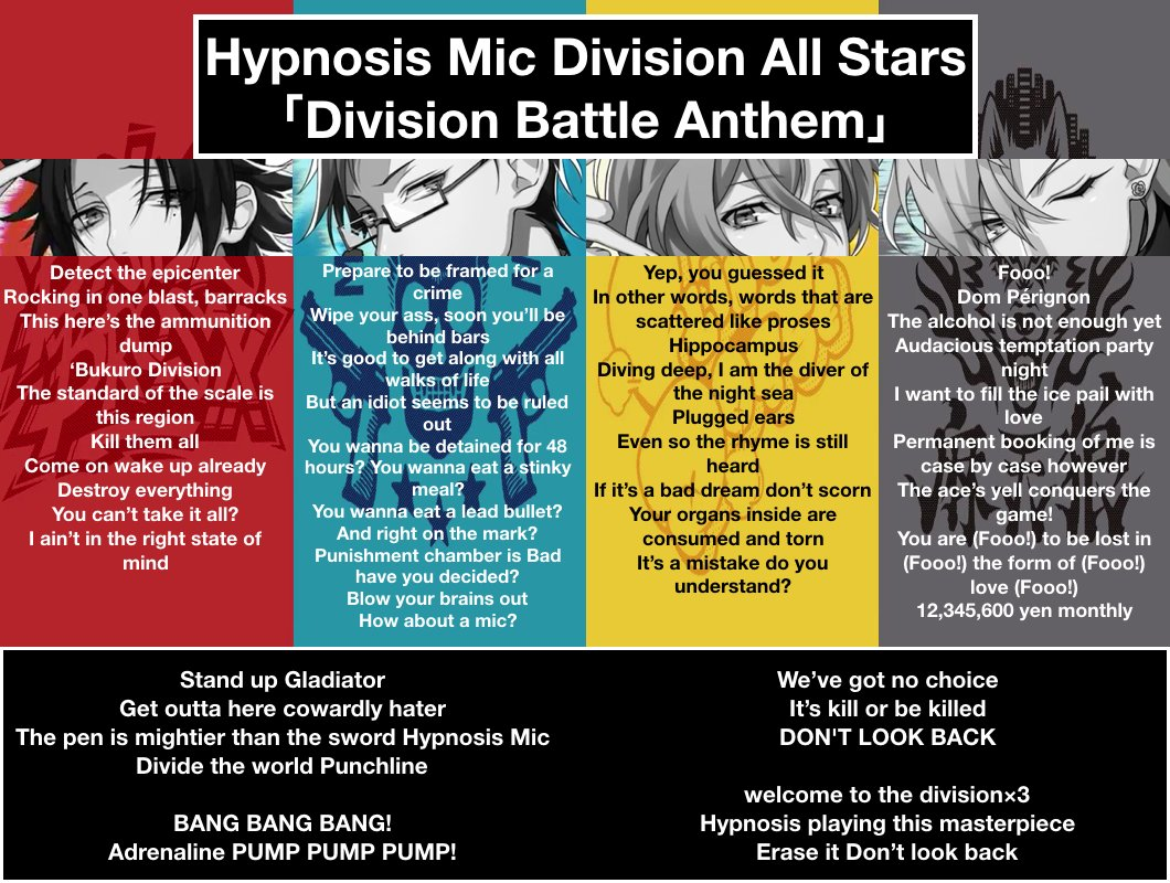 All Hypmic translations (for trivia pls check @hypmicsp )