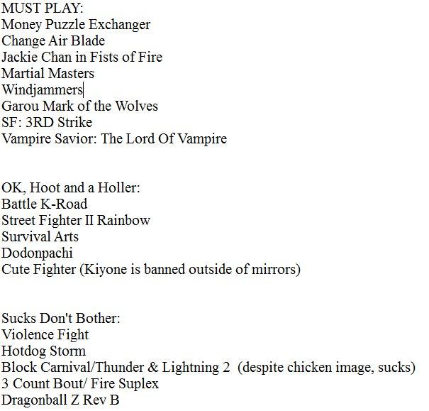 Twitchtvtietuesday On Twitter Current Fightcade 2 Tier List