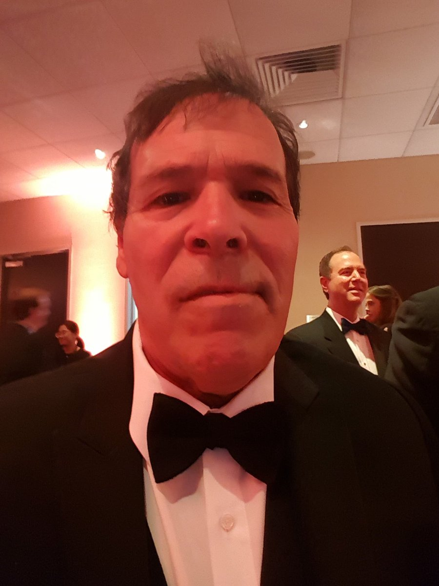 """Political satirist and activist @Credico2016 tells me he was physically removed by security from #NerdProm for shouting, """"God bless Assange! Why aren't we supporting him?"""" He said the incident occurred right before the Beltway press corps began celebrating itself."""