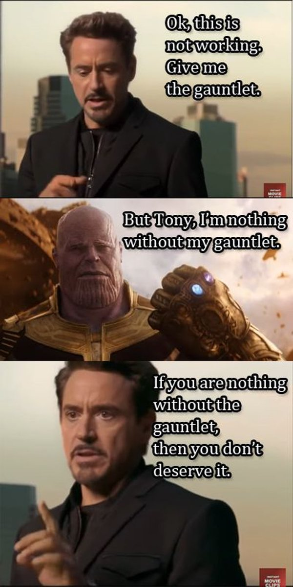 thanos shouldve killed all of us meme