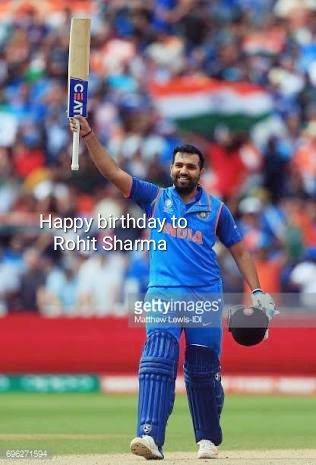 Meny meny Happy birthday to Rohit Sharma