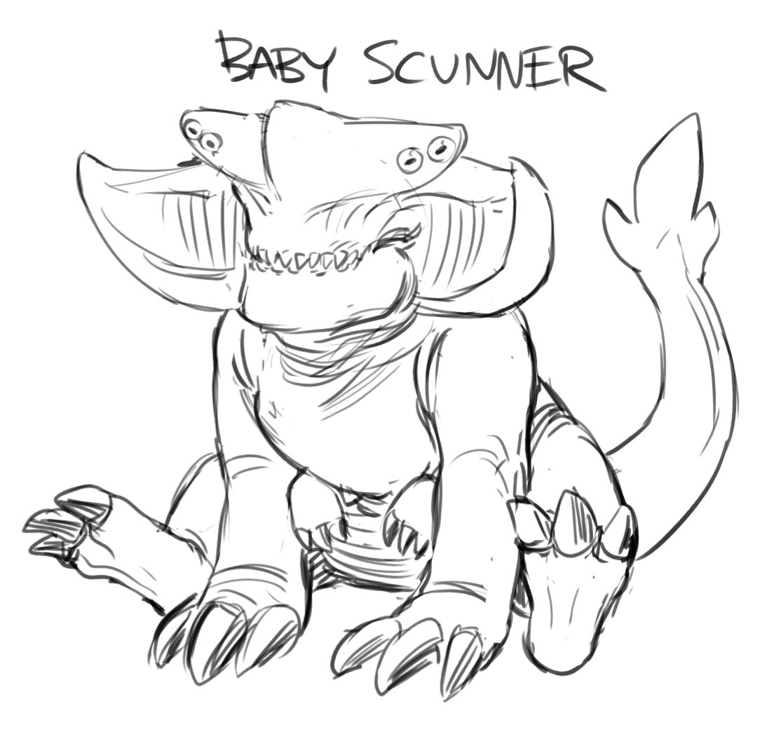 Friend Of The Kaiju On Twitter Baby Scunner Always Follows Baby Slattern Around Along With Baby Raiju Whenever I Get Around To Drawing Them Check out inspiring examples of raiju artwork on deviantart, and get inspired by our community of talented artists. baby scunner always