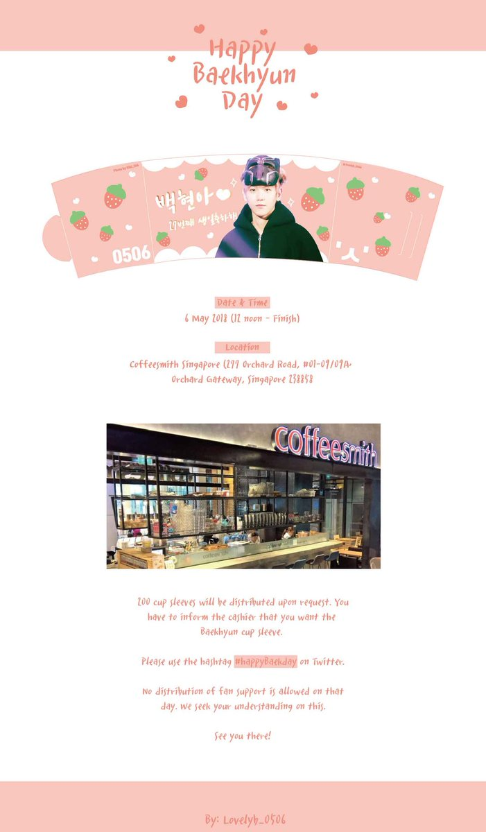 Lovely B On Twitter Happy Baekhyun Day In Singapore Happybaekday Get Your Baekhyun Cup Sleeve When You Order A Drink At Coffeesmith You Need To Inform The Cashier You Want Baekhyun Cup