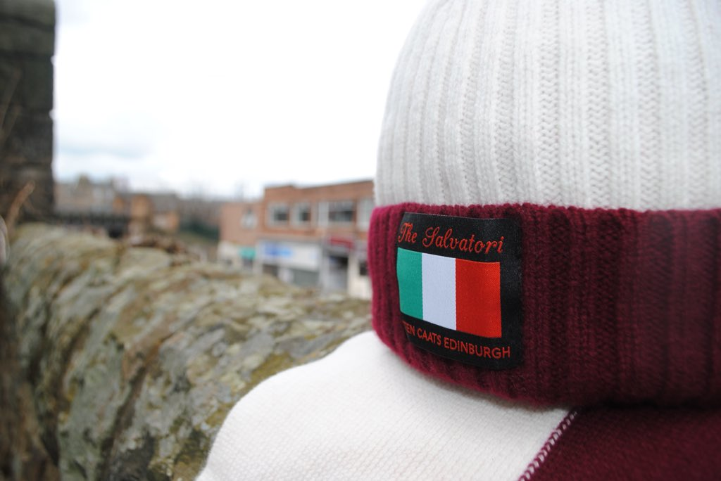 e18a5321e60 THE SALVATORI Our lambswool hat and scarf combination designed to mark  Hearts  1998 Scottish Cup triumph and remember the much-loved Stefano  Salvatori will ...