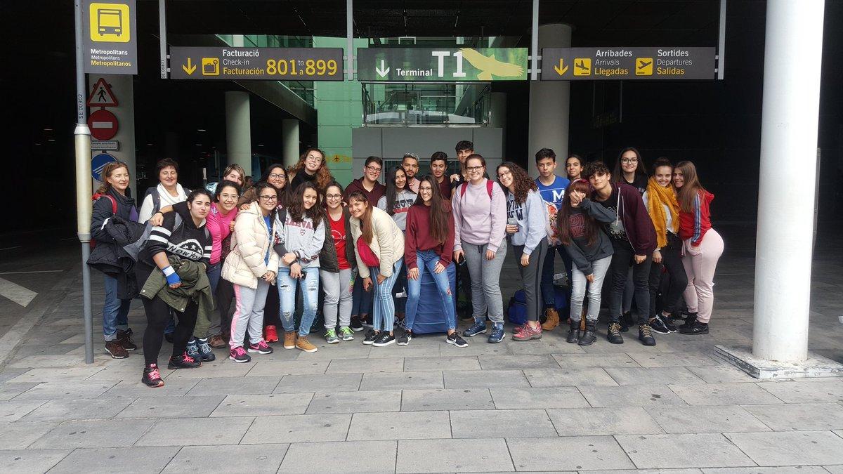 grupo al llegar a Barcelona