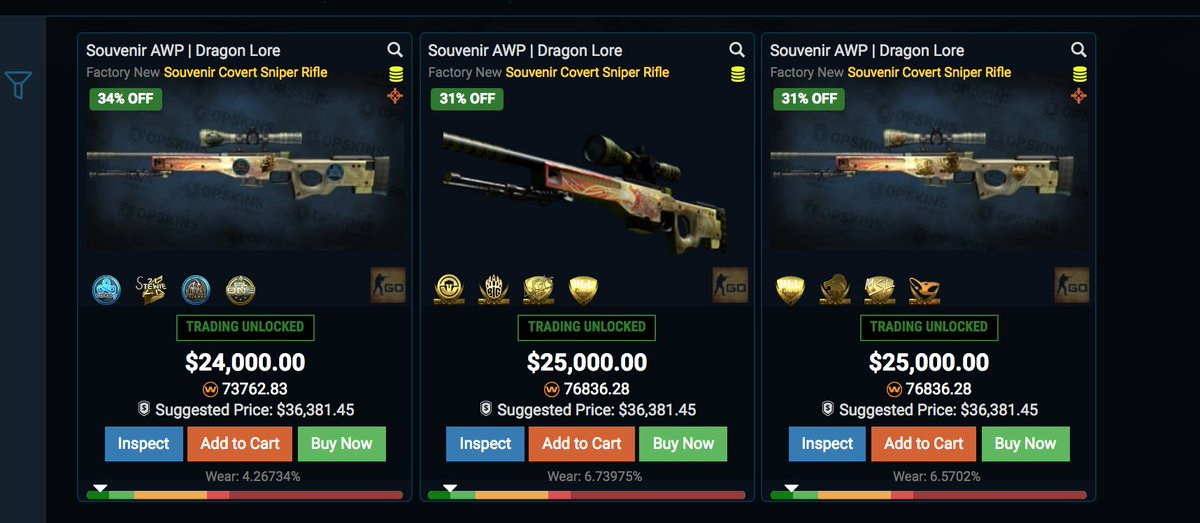 Souvenir Awp Dragon Lore Factory New Unboxing | BestSouvenirs CO