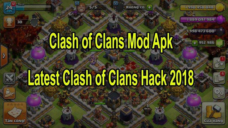mod apk 2018 clash of clans