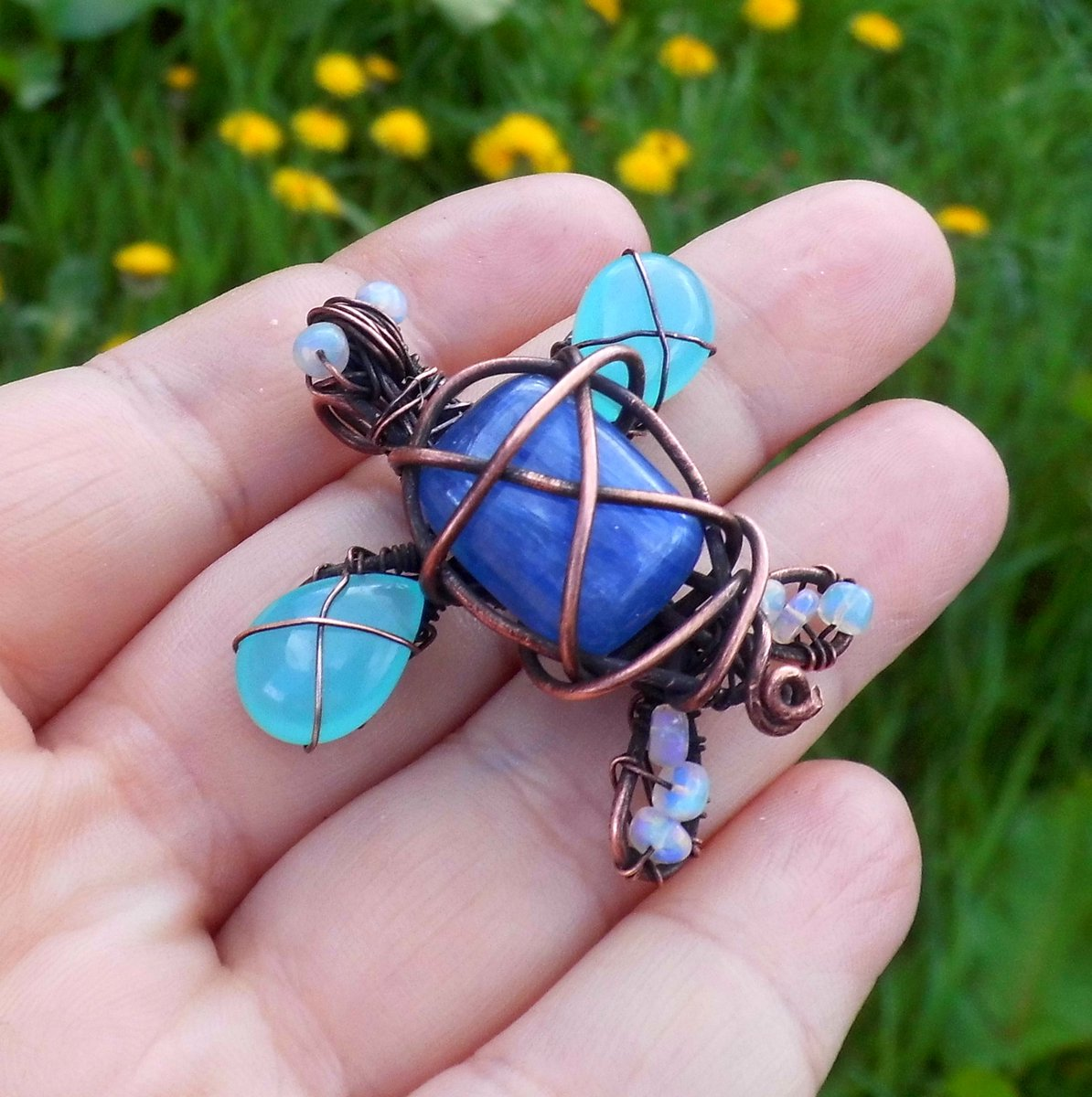 This pendant is now available http CharismaCrystals etsy com mothersdaygift Seaturtle womaninbiz handmadejewelry .