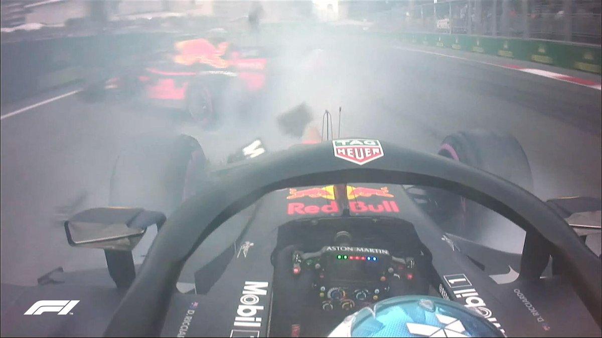 Video: Red Bull Racing crash at Azerbaijan GP