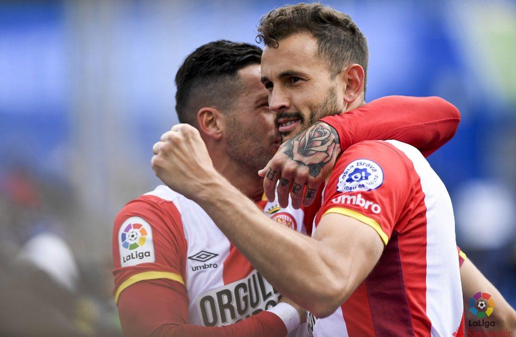 Es un orgullo para mí convertirme en máximo goleador en la historia del @GironaFC  Gracias a mis compañeros y a todo el equipo por ayudarme alcanzarlo  Seguimos por mas 💪💪 https://t.co/RHcH4ZvRVT