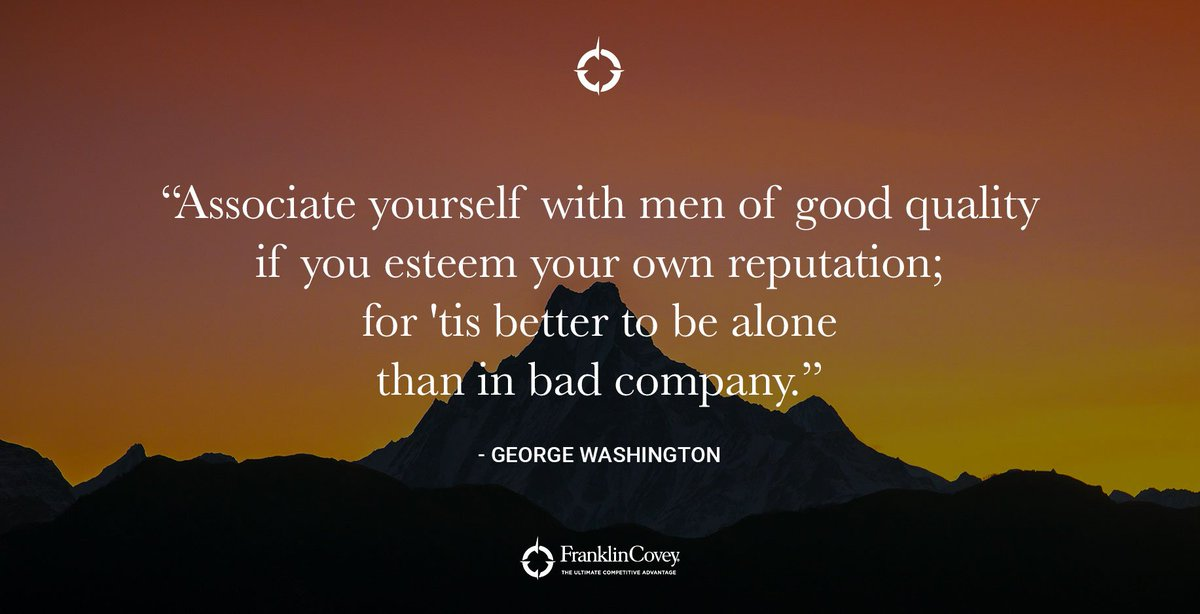 better alone than in bad company