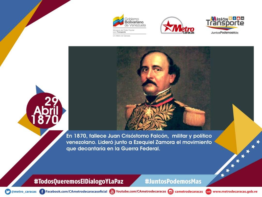 Metro De Caracas On Twitter Efemerides El 29abr De 1870 Fallece