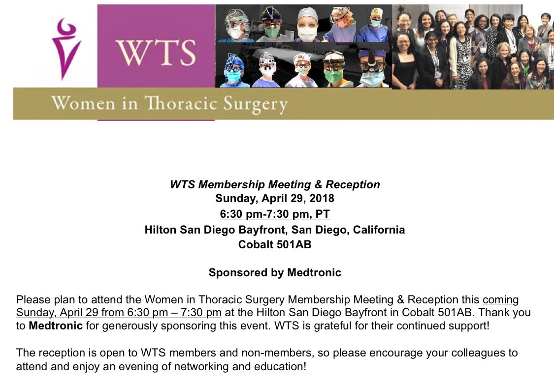 womeninthoracicsurg on twitter the wts membership meeting and